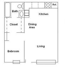 Granny Flat Floor Plans 1 Bedroom Narrow One Bedroom Rectangular Apartment Above Garage Conversion