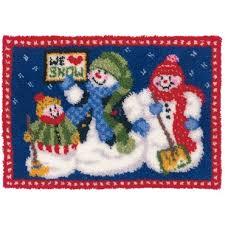 Vervaco Latch Hook Rug Kits Mary Maxim Snowman Family Latch Hook Rug Kit Latch Hook