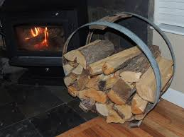 furniture fantastic firewood rack with black color and log stack