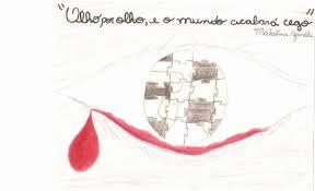 An Eye For An Eye Will Make The World Blind Art For Peace Contest An Eye For An Eye Makes The Whole World Blind