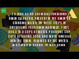 Unclog Bathtub With Baking Soda How Do You Unclog A Bathtub Drain Naturally Youtube