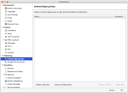 xamarin android signing your xamarin android application package during the