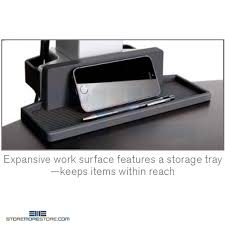 adjustable height four monitor stand for sitting or standing push
