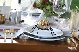 halloween tablecloth haunted halloween table decor ideas inspired by charm