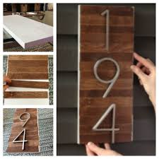 diy house number sign diy house numbers street and house