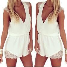 discount s5q deep v neck chiffon jumpsuits club dress womens