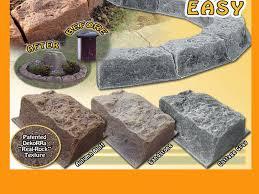 Rock Borders For Gardens Fast Easy Faux Rock Edging Realistic Border Edgers