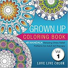 amazon com grown up coloring book 48 mandala relaxing stress