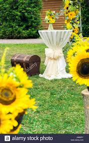 wedding floristics in a rustic style making a country style