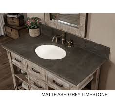 Bathroom Vanity Top 48 Inch Rustic Bathroom Vanity Matte Ash Grey Limestone Top