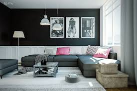 Grey Sofa Living Room Ideas Dramatic Black Ideas For Painting A Living Room Ifresh Design