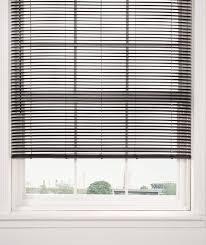 pvc woodgrain effect black 25mm slatted venetian blinds 12