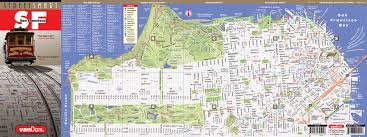 San Francisco Sightseeing Map by San Francisco Map By Vandam San Francisco Streetsmart Map City