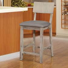 Linon Home Decor Bar Stools by Linon 017101gwsh01u Jordan Gray Wash Counter Stool W Gray Fabric Seat