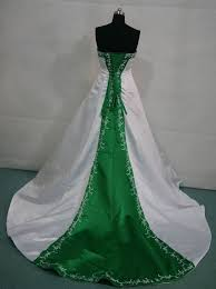 Green Dresses For Weddings White And Emerald Green Wedding Dress
