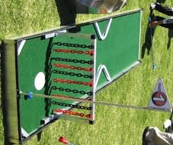 Backyard Golf Games Miniature Golf Game With Chains As Obstacles Carnival Time