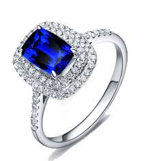 women s engagement rings 2 carat vintage blue sapphire and diamond halo engagemnet ring for