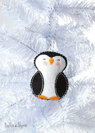 pdf pattern penguin winter felt ornament pattern