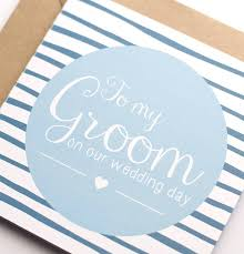 wedding day cards for groom to my groom on our wedding day card by wolfe paper co