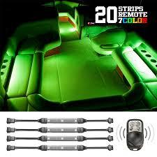 Marine Led Strip Lights 20 Pcs 7 Color Remote Flexible Strip Kits For Boat Xkglow Com