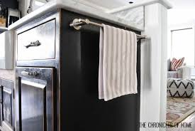 To Use The Empty Space On The Side Of Kitchen Cabinets - Kitchen cabinet towel rack