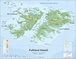 Map Of Caribbean Islands And South America by Falkland Islands Wikipedia