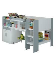 white u0026 silver single midi sleeper bunk bed with desk cabinet