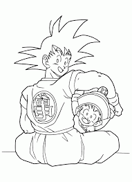 gohan coloring pages coloring home