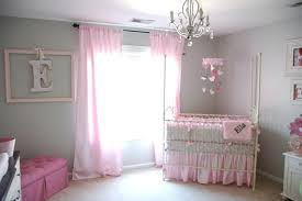 Pink Curtains For Nursery Curtain Beautiful Pink And Grey Curtains Image Inspirations