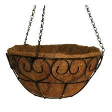 Hanging Planter Basket | vigoro 14 in metal heart scroll hanging basket hbhs14vg the home