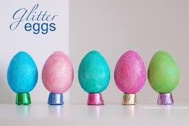 glitter easter eggs to make glitter easter eggs