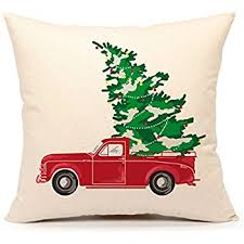 truck with tree vintage home decorations