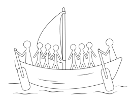 viking ship coloring page aboriginal painting of boat with human figures coloring page