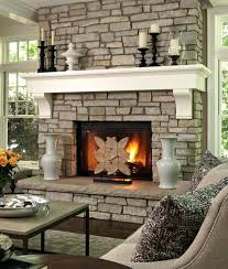 stone fireplace decorating ideas photos mantel christmas veneer