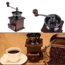 Cast Iron Coffee Grinder New 2017 Retro Manual Coffee Grinder Wooden Vintage Hand Manual