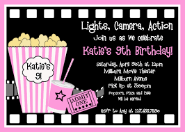 printable birthday invitations girls movie party