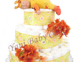 baby diaper cake pink elephant deluxe diaper cake 3 tier