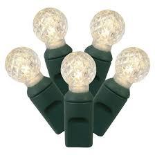 led faceted globe string lights warm white 50 ct target