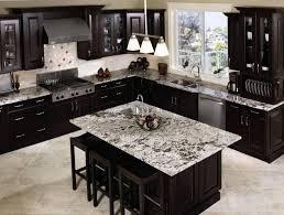 Black Kitchen Cabinets Design Ideas Black Kitchen Craft Cabinet And Island Granite Countertops Decor