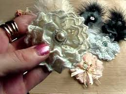266 best lace and fabric flowers images on pinterest fabric
