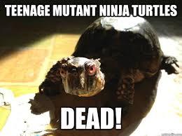 Ninja Turtles Meme - teenage mutant ninja turtles dead evil turtle quickmeme