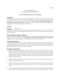 Sample Resume For Maintenance Engineer by Janitor Job Duties Resume Resume For Your Job Application