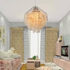 Round Capiz Chandelier Lighting Charming Bedroom Decor With Capiz Chandelier And White