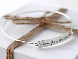 engraved bracelets personalized handwriting bracelet custom writing bangle