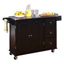 kitchen island cart with stainless steel top kitchen wallace kitchen cart with counter stainless steel top