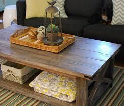 Rustic Coffee Table Diy Wood Coffee Table Diy Diy Rustic X Coffee Table U2013 Les Proomis
