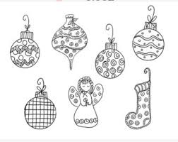 ornaments gifts clip doodle