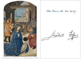 spainish royal family christmas cards zimbio