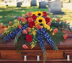 casket spray vibrant summer casket spray casket standing sprays