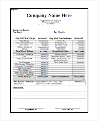 13 payroll templates free sample example format free